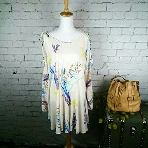 NWT Free People Clear Skies cold shoulder dress